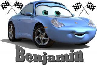 Disney Cars Sally WallSticker Wall Sticker Name Personalized CARSMU6