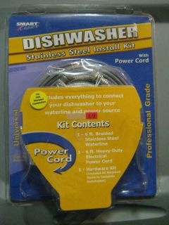 Smart Choice Dishwasher Stainless Steel Installation Kit 6 Power Cord