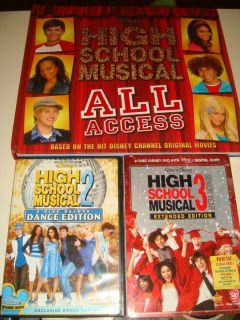 Lot of 2 Disney Channel Disney DVDs High School Musical 2 3 and Book