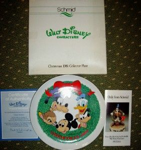 Walt Disney Characters 1981 Christmas Collector Plate