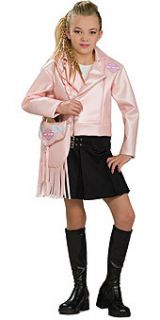 Girl's Pink Motorcycle Faux Leather Jacket Costume