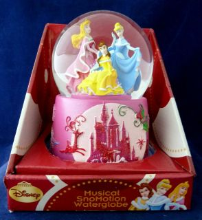 Disney Princess Christmas Musical Motion Snowglobe Aurora Belle