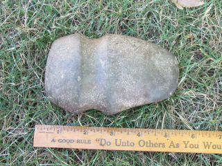 American Indian Axe Head Dewitt Co Kenny Il Salt Creek Farm Found