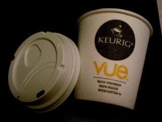 KEURIG NAME VUE coffee tea Disposable PAPER HOT CUP LID LOT   27 cents