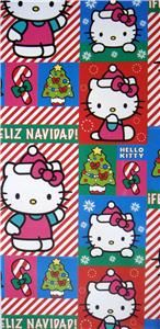 new christmas hello kitty gift wrap paper party