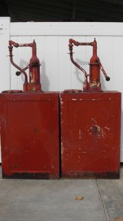 ANTIQUE VINTAGE ERIE OIL PUMP DISPENSER    PAIR OF TWO