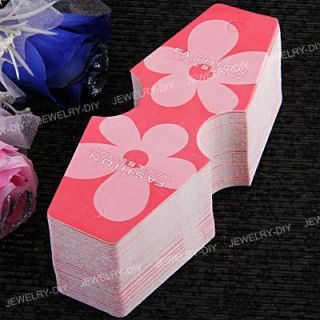 Pink Fold Over Necklace Hanging Jewelry Display Cards 5 5x2