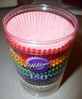 150 Ct Rainbow Multi Colored Paper Baking Cups Cupcake Liners