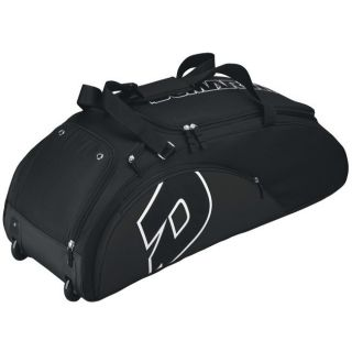NEW DeMarini Vendetta Baseball Softball Bat Bag on Wheels Black