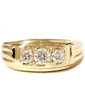 Gold Band 80ct 3 Stone Geniune Diamond Anniversary Ring 14k New