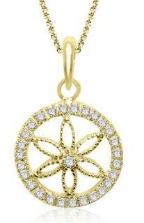 60Ctw Round Cut Diamond Jewelry 14K White Gold Circle Pendant Necklace