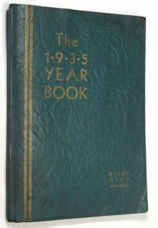 1935 DIXON, IL Illinois Dixonian High School Yearbook Year Book