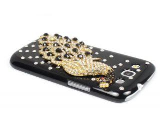 New Fashion Luxury Peacock Diamond Case Cover For Samsung i9300 GALAXY