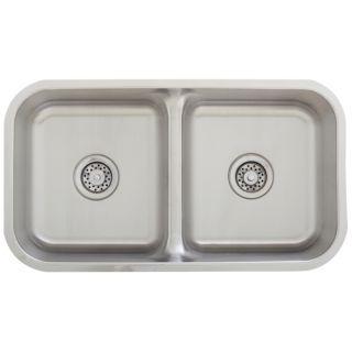 Stainless Steel Undermount Sink Low Divide w Accessories
