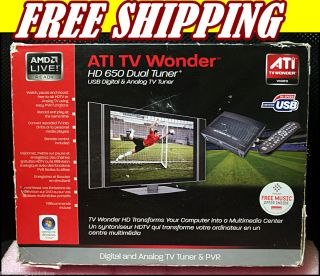 DIAMOND ATI TV WONDER HD 650 DUAL TUNER USB DIGITAL ANALOG TV TUNER