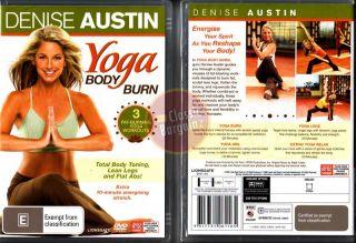 Denise Austin Yoga Body Burn Fat Blast Reshape New DVD 9317731061165