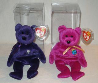 Ty Beanie Babies Millennium Purple Princess Diana
