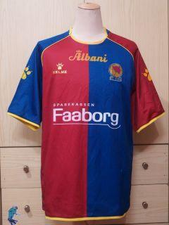vintage kelme denmark fc fyn football shirt soccer jersey