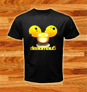 Dj Deadmau5 Head Cheest Design Music Logos Black T shirt tee size S