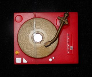 Red Record Player DJ Mixer Party Music for Barbie Doll House Rec Room