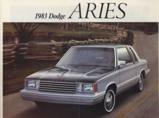 1983 Dodge Aries K Dealer Sales Brochure Book
