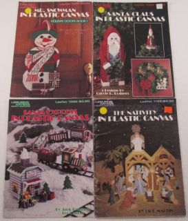 Plastic Canvas Christmas Lot Nativity with Stable Wise Men Santa