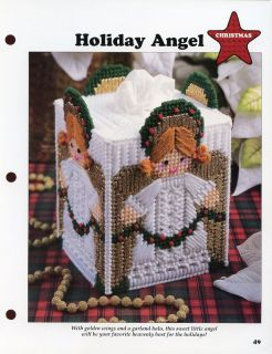 Christmas Holiday Angel Boutique Tissue Cover Plastic Canvas Pattern