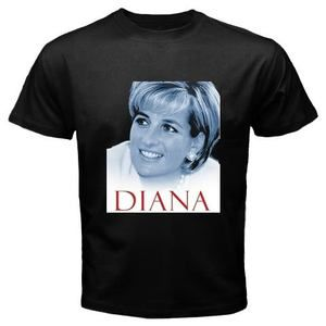 Hot New LADY DIANA PRINCESS OF WALES High Quality Black T shirt Size S