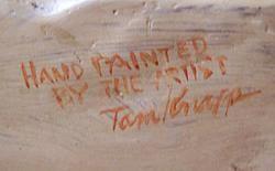 Tom Knapp Signed Painted Cast Bronze Sculpture Listed