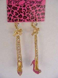 From Betsey Johnson, these sparkling, hot pink, crystal studded high
