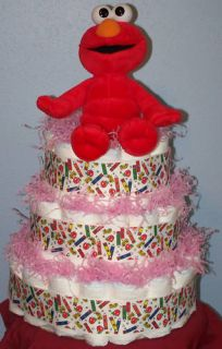 Sesame Street Diaper Cake Baby Shower Gift Girl