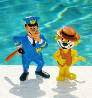 Barbera Top Cat Spain PVC Figure Officer Dibble Toy Set of 2 RARE HTF
