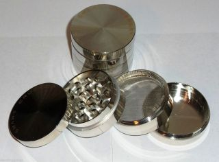 25 Smart Crusher® Silver Space Metal Spice Herb Tobacco Pollen