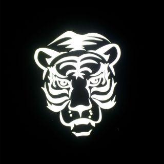 Tiger RETRO REFLECTIVE heat transfer design iron on motif for Tshirt