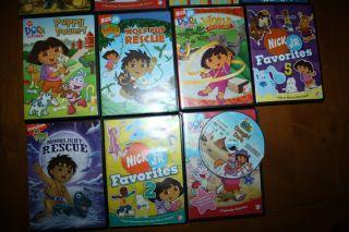 DORA the Explorer DIEGO DVD book LOT Nickelodeon Jr  Find