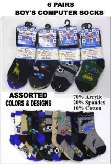 Pairs Boys Computer Socks Designs Sock Size s M L XL