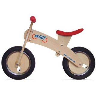 NEW Diggin Active Skuut Wooden Balance Bike (Red)