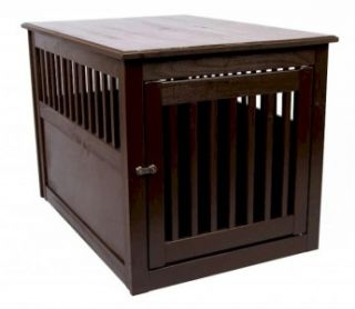 New Mahogany Wood Hidden Dog Kennel Pet Furniture Piece Table Doggie