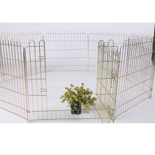 42H Pet Dog Exercise PlayPen Colorful Zinc Fence Kennel W/8 Panel NIB