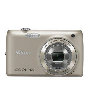 Nikon Coolpix S4100 Digital Camera Bundle Silver 4GB Memory Card Case
