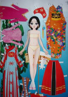 Paper Doll / Dress up doll paper toys Asia Asian girls Korea cartoon