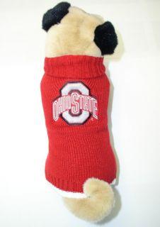 Ohio State Buckeyes NCAA Sweater for Dogs