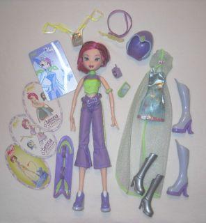 Winx club tecna fairy doll school dance fashion lot mattel original