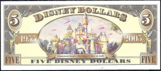 Disney Dollar 2005 $5 Donald Duck Crisp Mint T00080956 Store