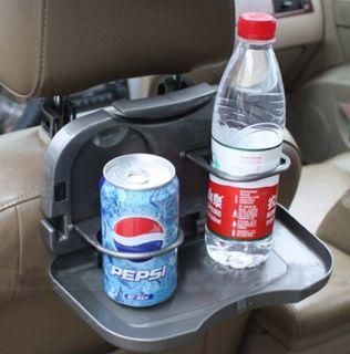 Car Dining Tray Back Seat Food Drink Meal Table Desk Bottle Cup Holder