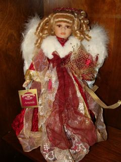 Collectible Memories Porcelain Doll Amanda Holiday Angel