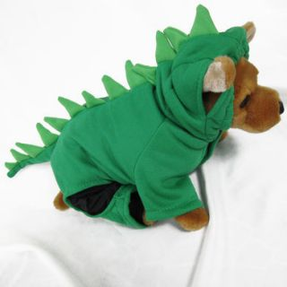 Dinosaur GR Costume Pet Dog Clothes Apparel Chihuahua S