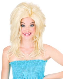 Dolly Parton Style Teased Midwest Momma White Trash Blonde Costume Big