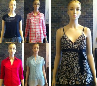 Lot 5 PC Womens Juniors Clothing Tops Blouse Shirts Size Medium Large