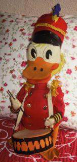 Vintage Lenci Italy Large Walt Disney Doll Donal Duck Drummer